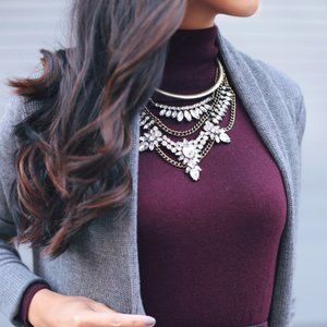 Baublebar Crystal Grendel Bib Necklace